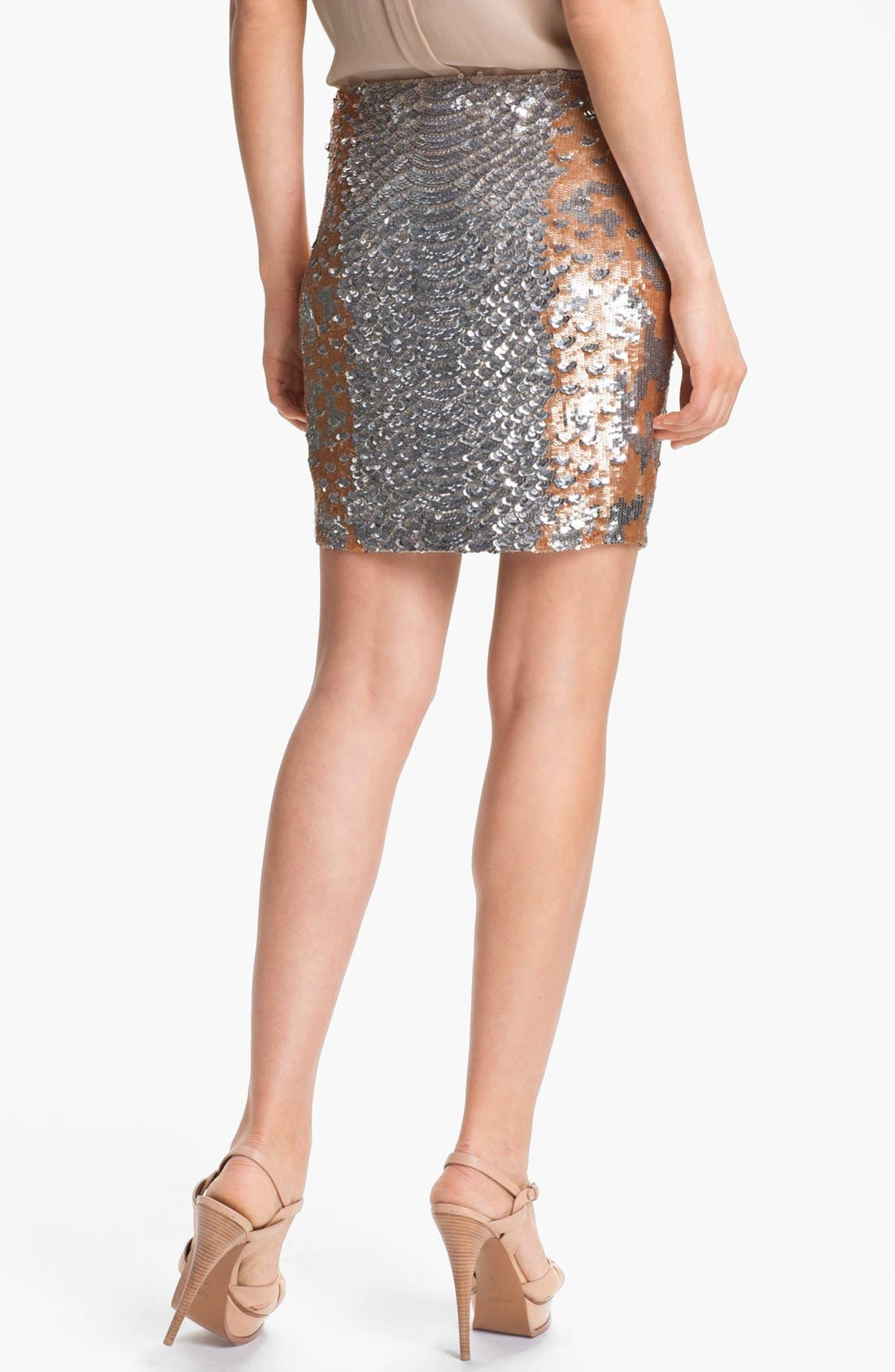 Alternate Image 2  - Haute Hippie Python Pattern Sequin Skirt (Nordstrom Exclusive)