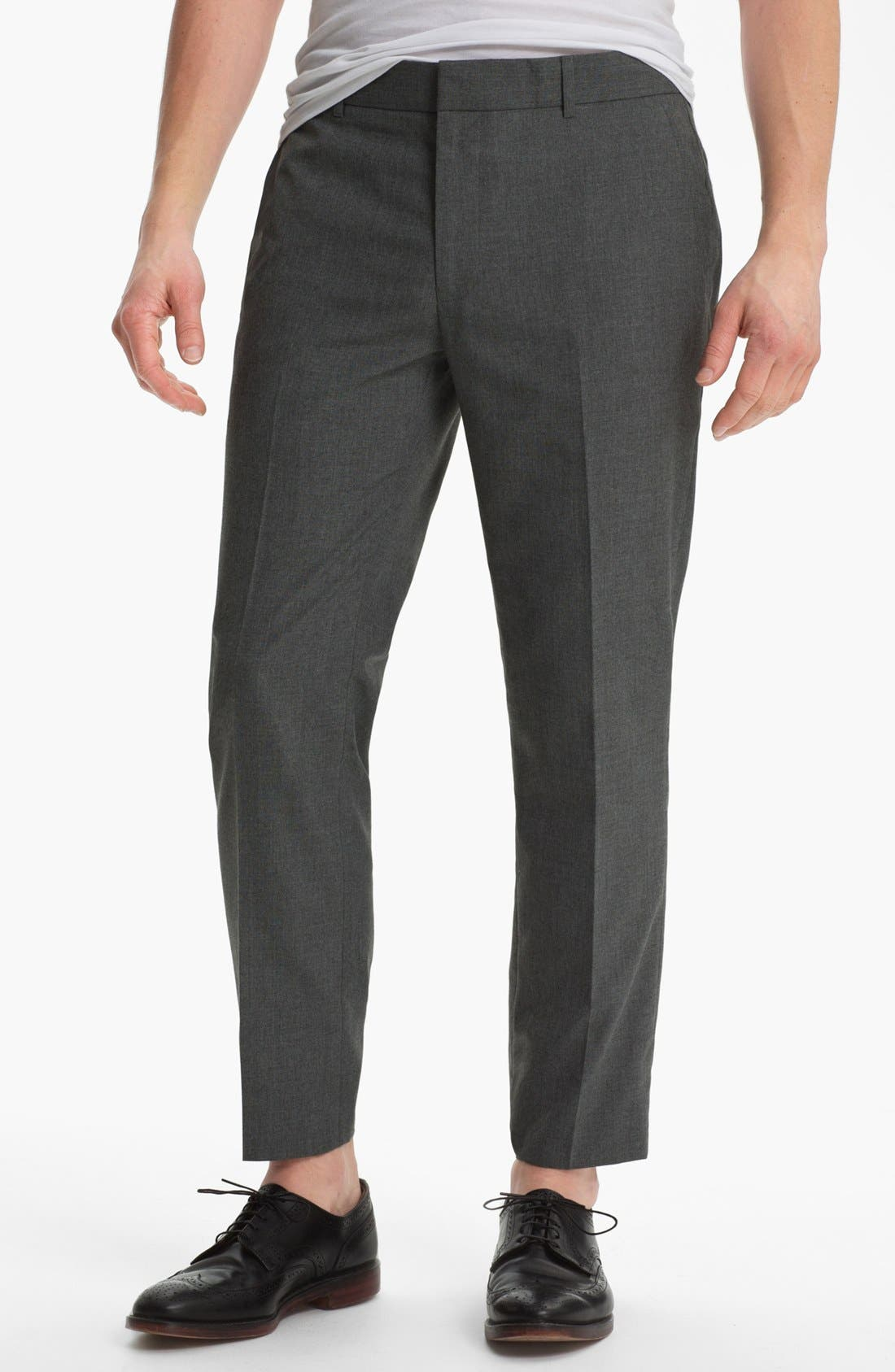 Main Image - Topman Slim Fit Trousers