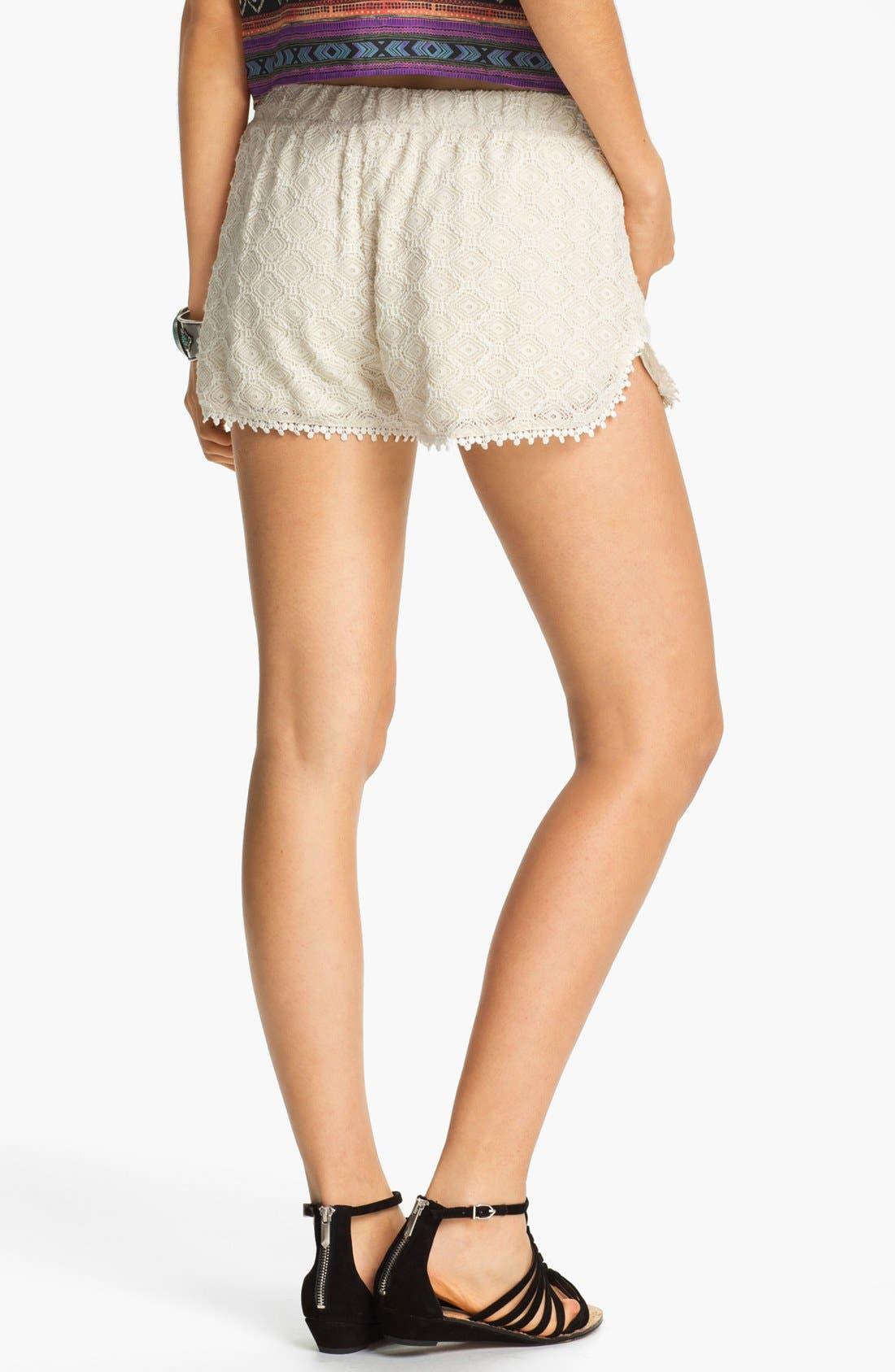 Alternate Image 4  - Rubbish 'Festival' Lace Shorts (Juniors)
