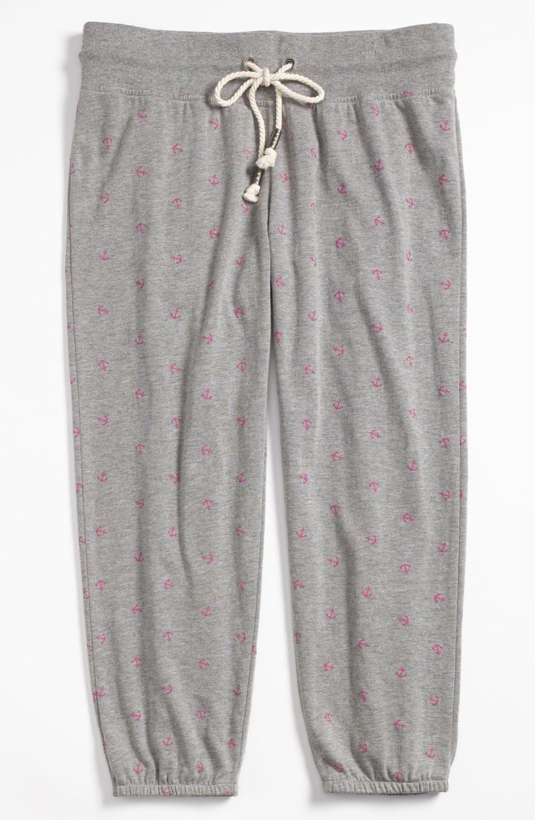 Alternate Image 4  - Roxy 'Randomness' Cropped Fleece Pants