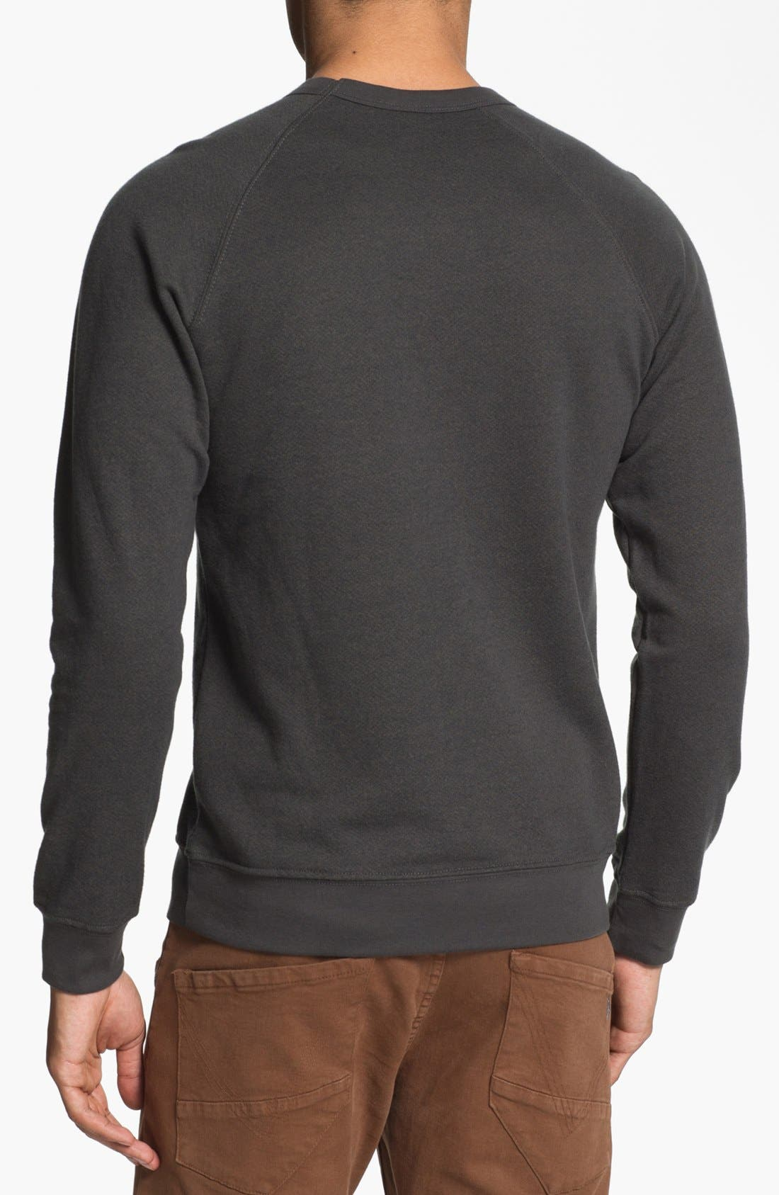Alternate Image 2  - Obey 'College Crest' Graphic Crewneck Sweatshirt.