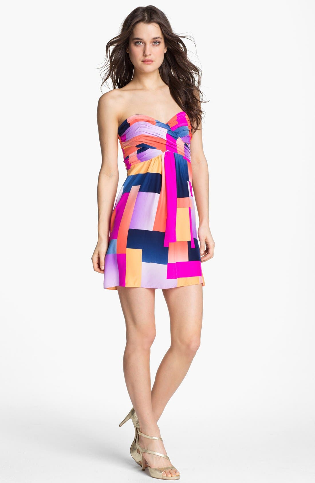 Alternate Image 1 Selected - ALICE & TRIXIE 'Britney' Print Silk Fit & Flare Dress