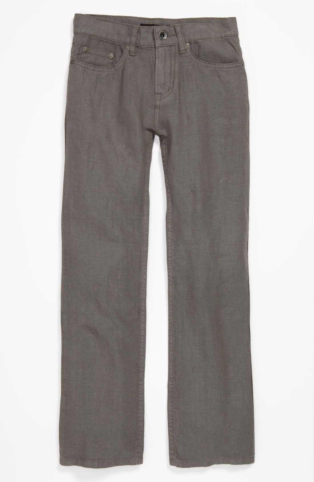 Main Image - John Varvatos Star USA Linen Pants (Big Boys)