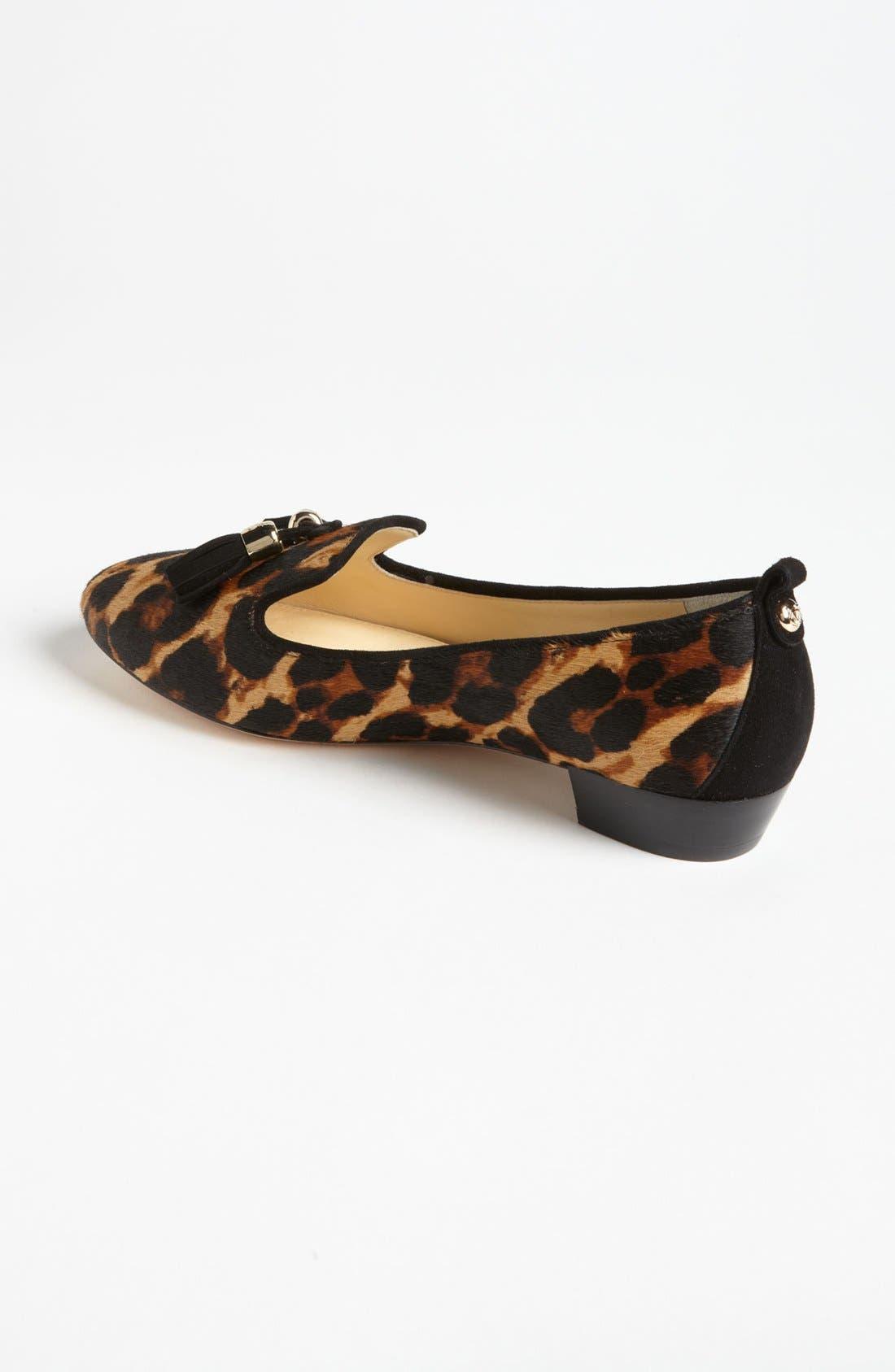 'Nancy' Loafer,                             Alternate thumbnail 2, color,                             Leopard Haircalf