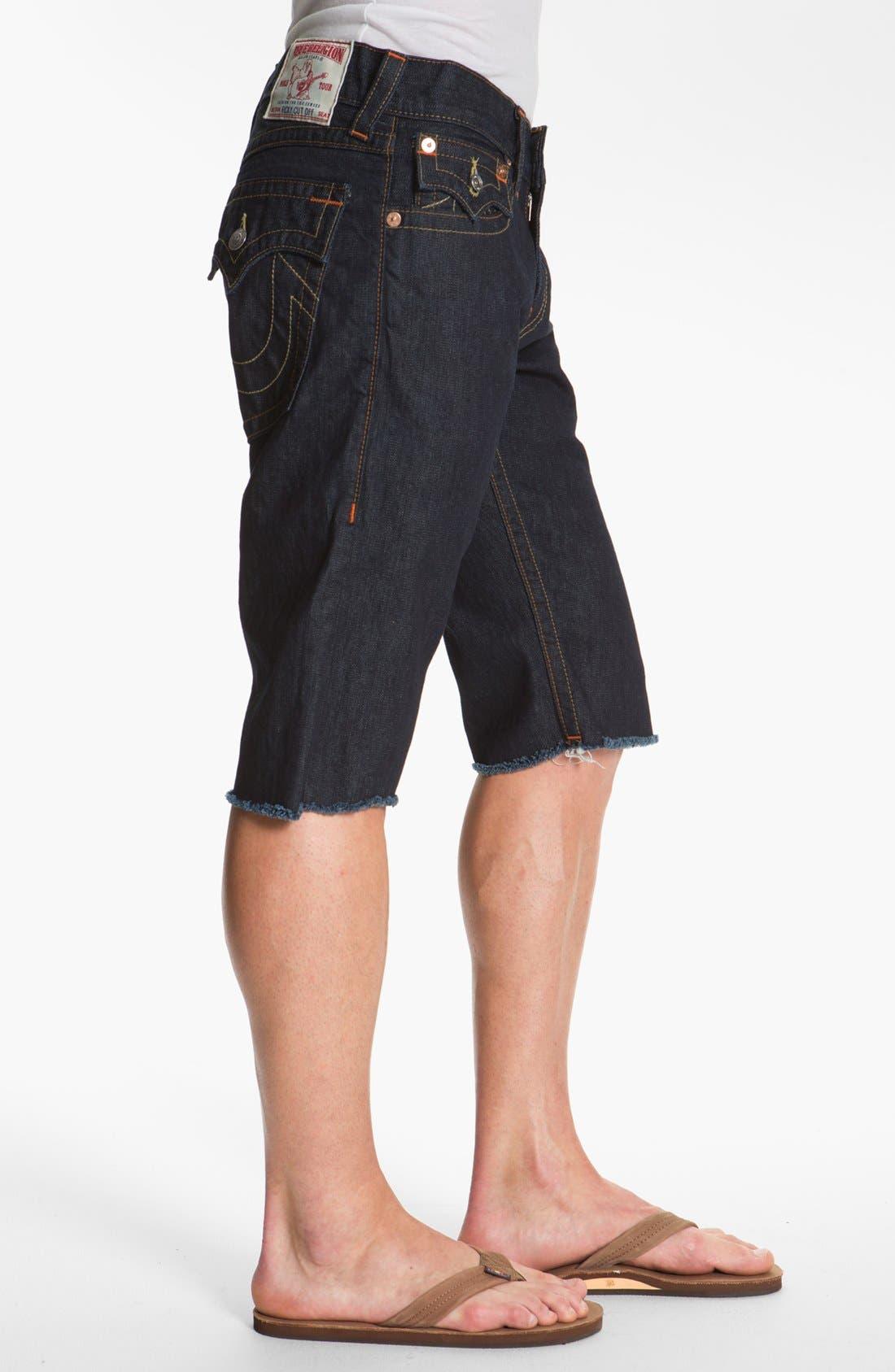 Alternate Image 3  - True Religion Brand Jeans 'Ricky' Cut Off Denim Shorts