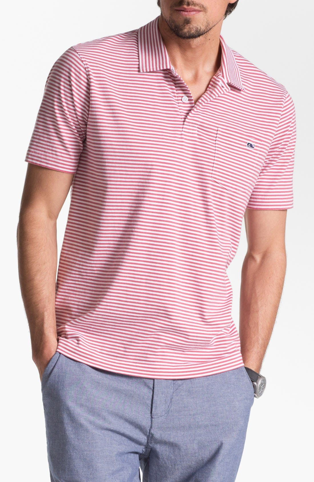 Alternate Image 1 Selected - Vineyard Vines 'Clearwater' Stripe Polo