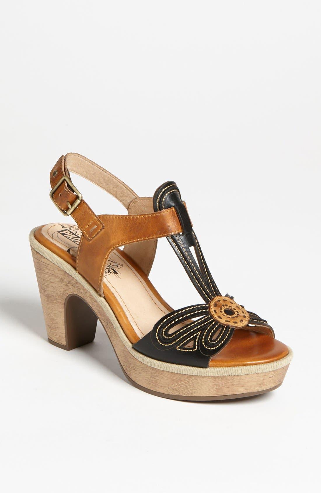 'Trinidad' T-Strap Sandal,                         Main,                         color, Black