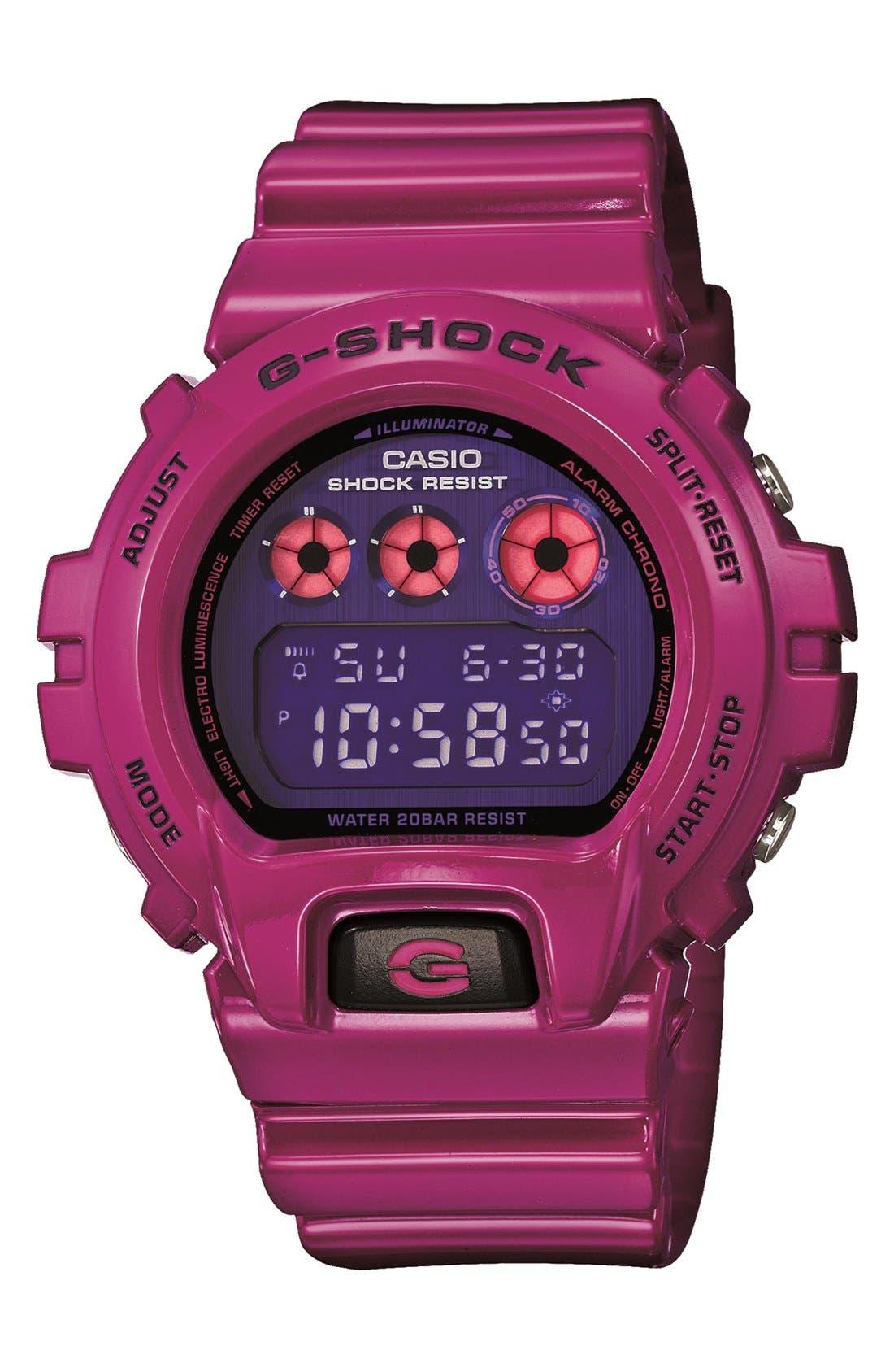 Alternate Image 1 Selected - G-Shock 'Polarized' Digital Watch, 53mm x 50mm