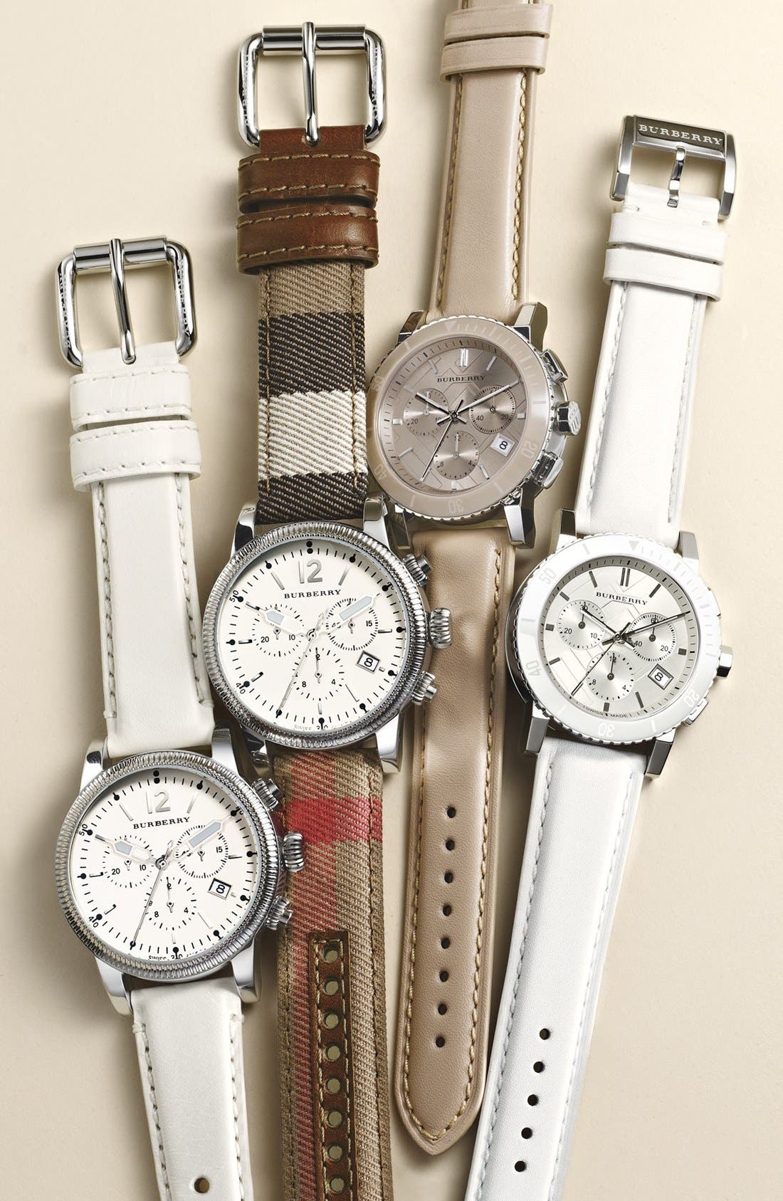 Alternate Image 7  - Burberry Check Stamped Chronograph Watch, 38mm