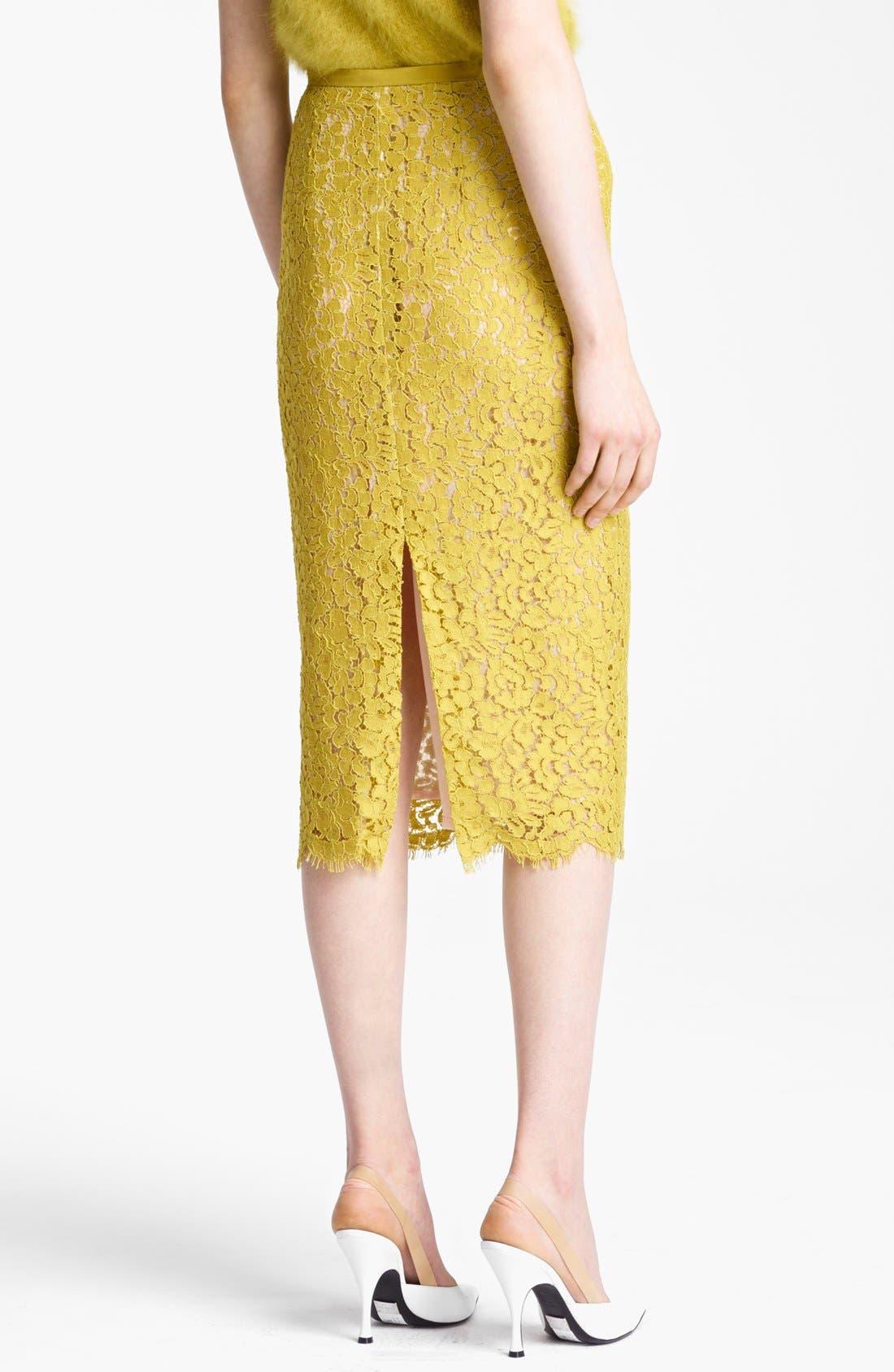 Alternate Image 2  - Michael Kors Floral Lace Pencil Skirt