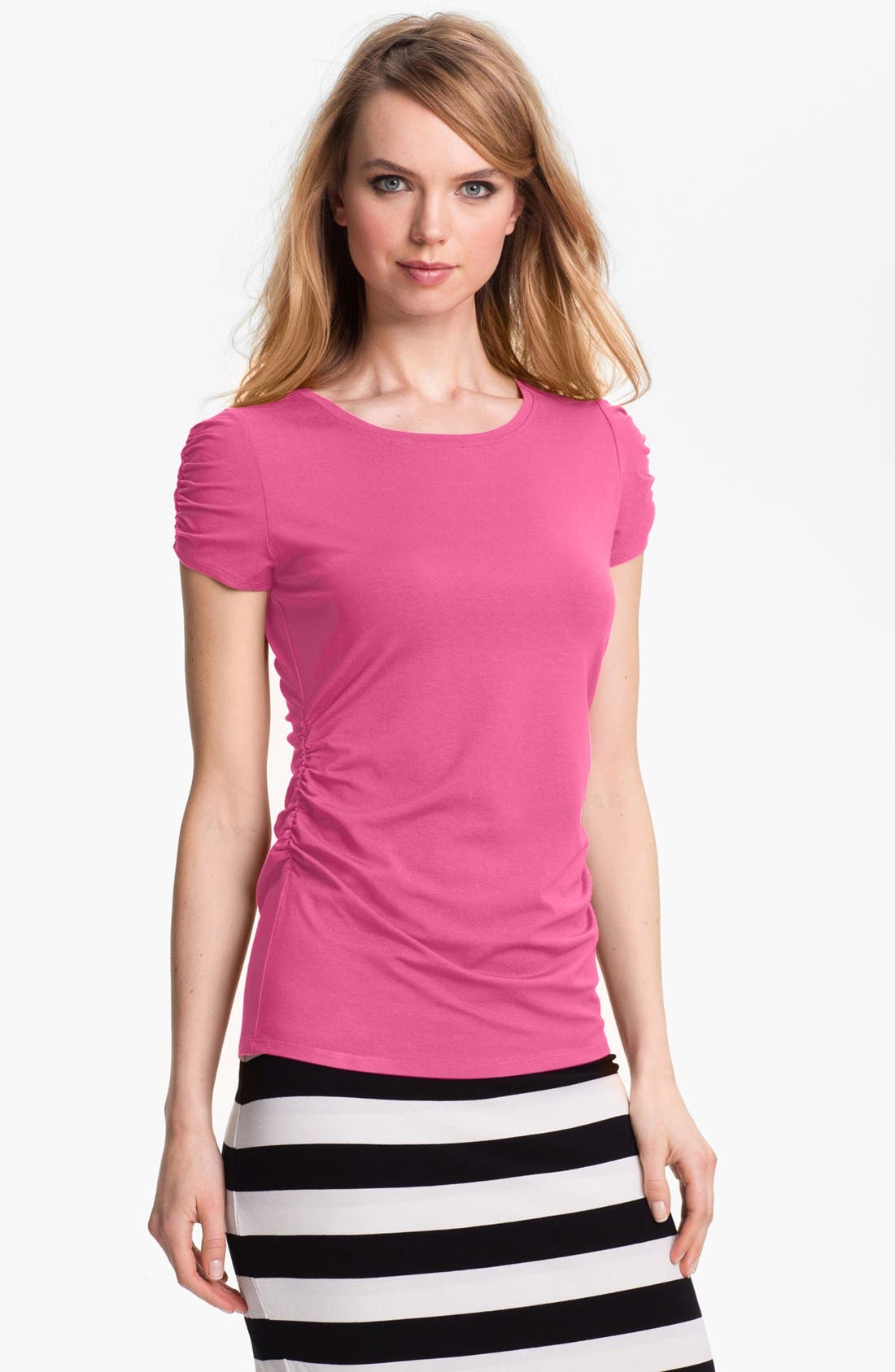 Main Image - Vince Camuto Ruched Scoop Neck Top