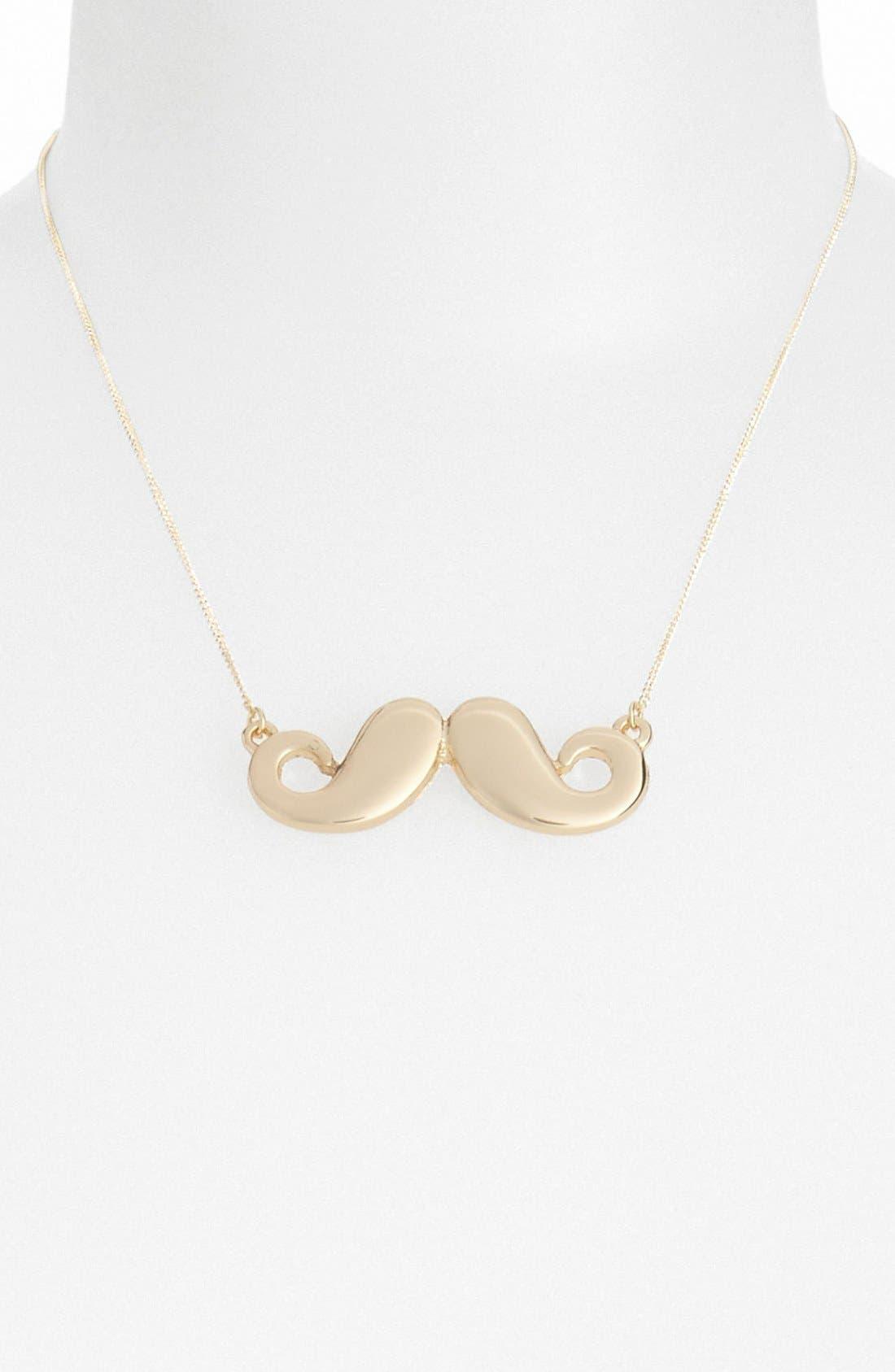 Alternate Image 1 Selected - Topshop 'Mini Mustache' Necklace