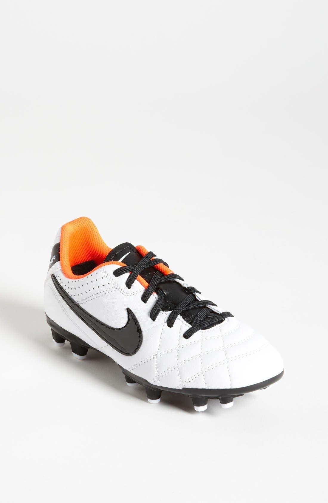 Main Image - Nike 'Tiempo Natural IV Jr.' Soccer Shoe (Little Kid & Big Kid)