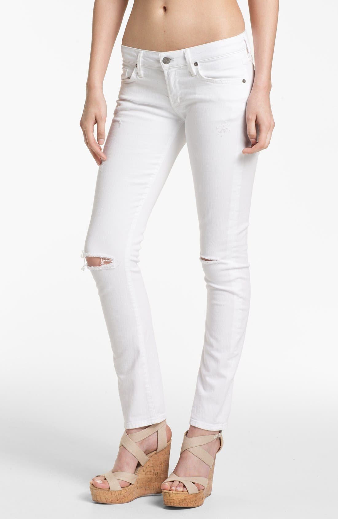 Main Image - Citizens of Humanity 'Racer' Distressed Skinny Jeans (Santorini)