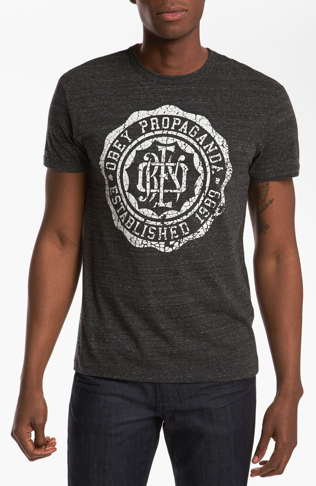 Alternate Image 1 Selected - Obey 'College Crest' T-Shirt