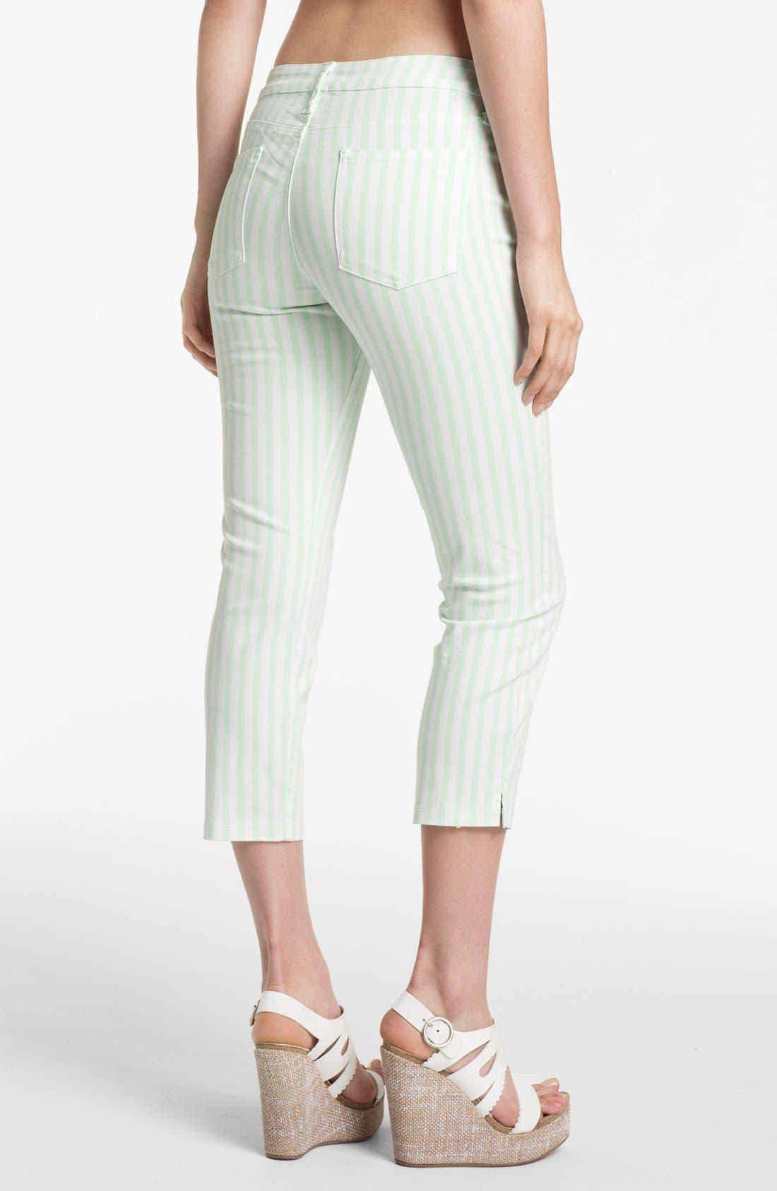 Alternate Image 2  - Splendid 'Shoreside' Stripe Cropped Skinny Pants