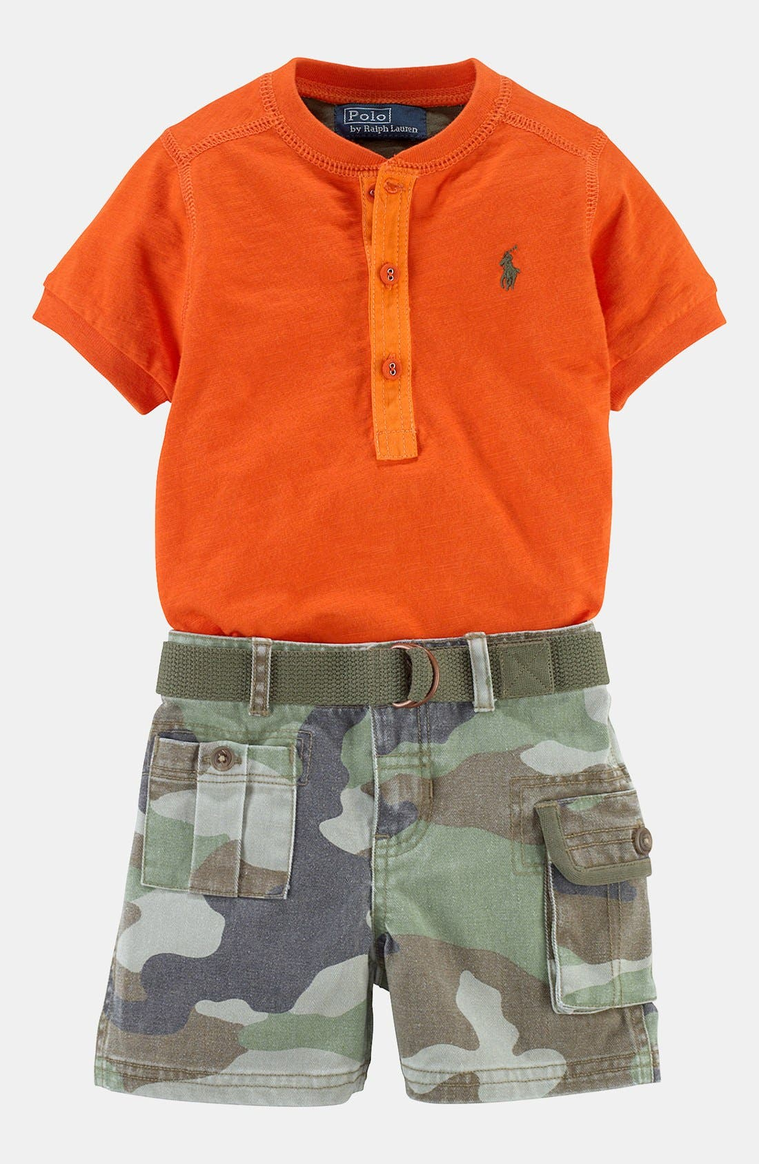 Alternate Image 2  - Ralph Lauren Shirt & Shorts (Baby)