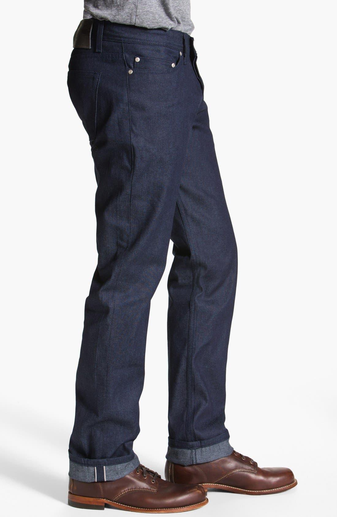 Alternate Image 3  - Naked & Famous Denim 'Weird Guy' Slim Tapered Leg Selvedge Jeans