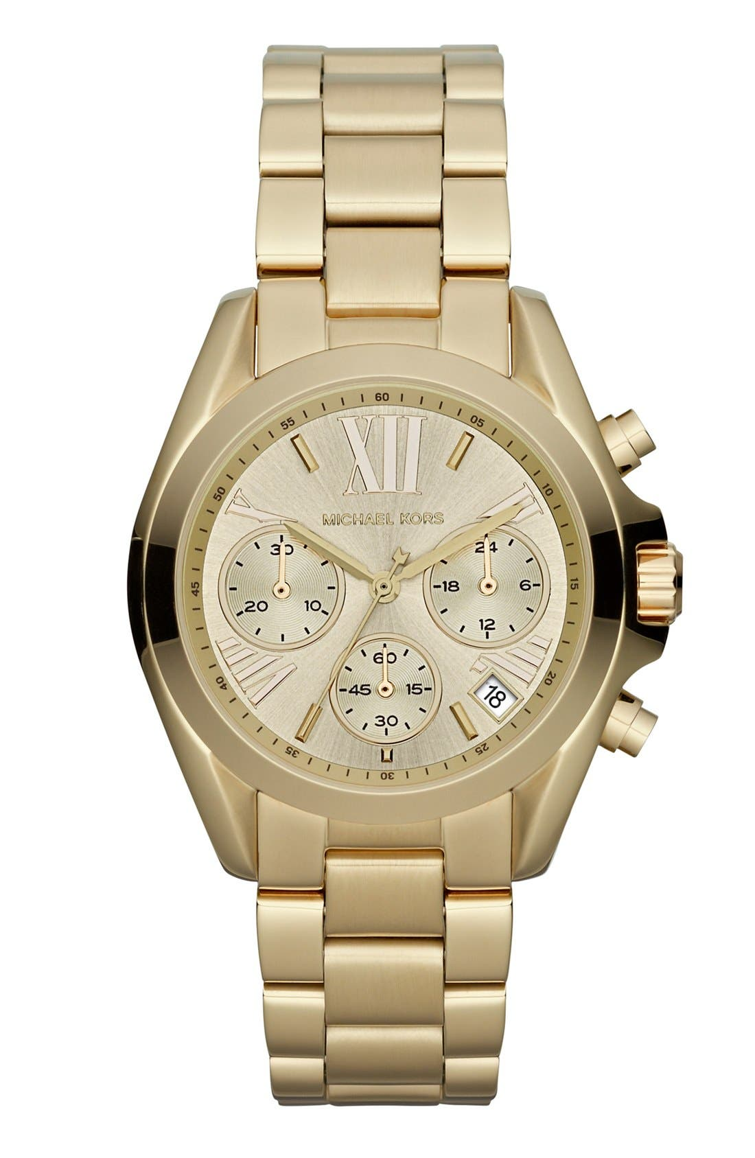 Alternate Image 1 Selected - Michael Kors 'Bradshaw - Mini' Chronograph Bracelet Watch, 36mm