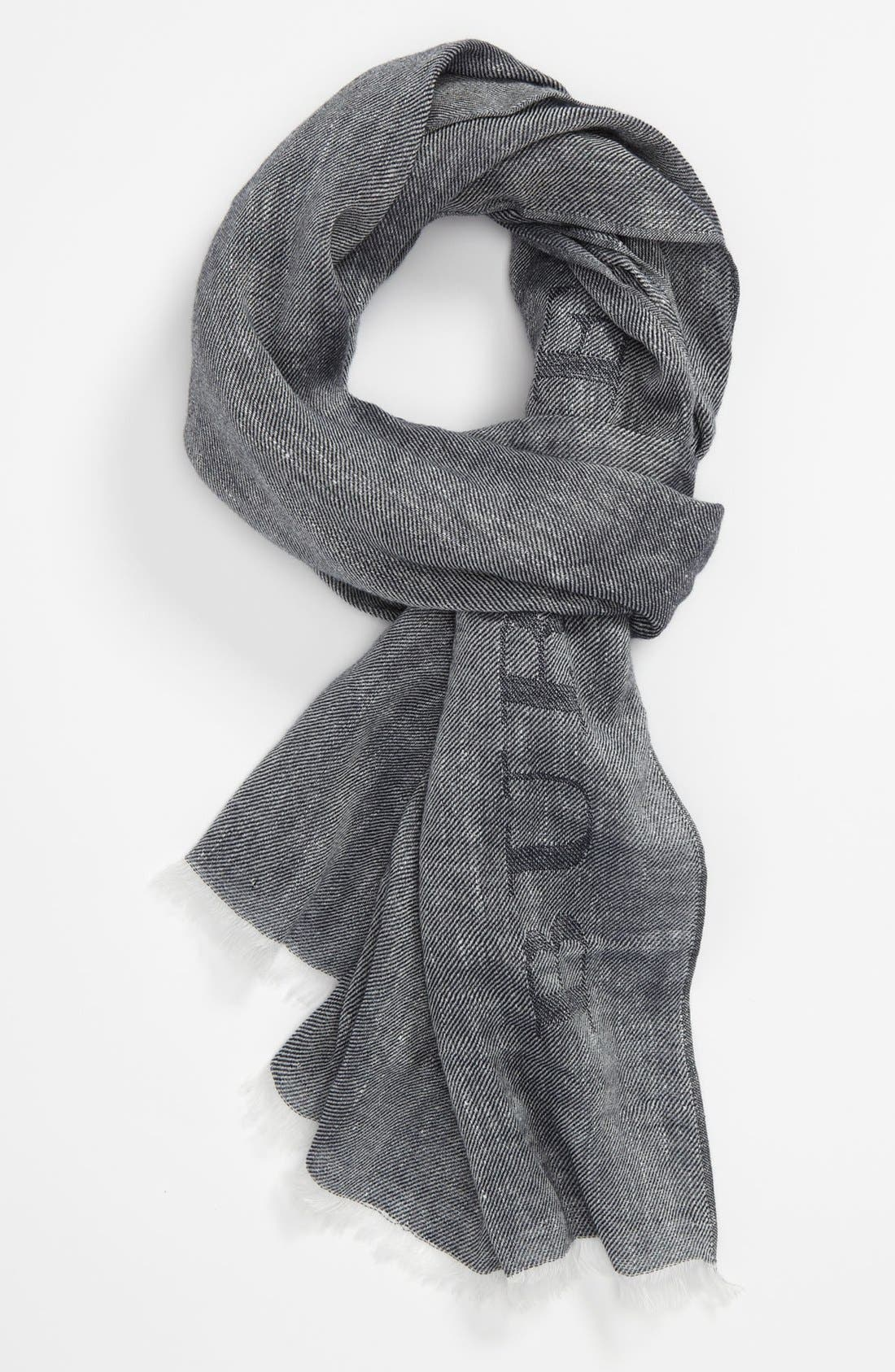 Main Image - Burberry Linen & Cotton Scarf
