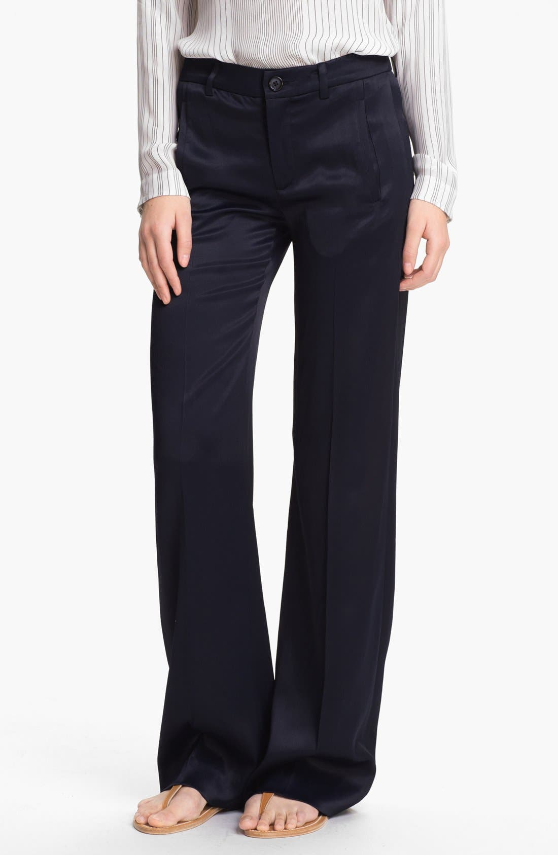 Alternate Image 1 Selected - Vince Satin Trousers