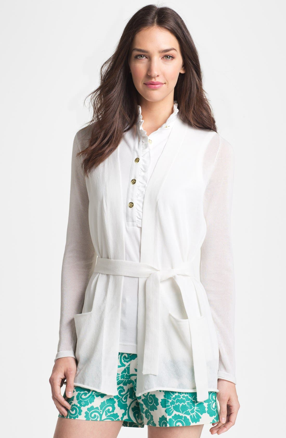 Alternate Image 1 Selected - Tory Burch 'Niles' Belted Cardigan
