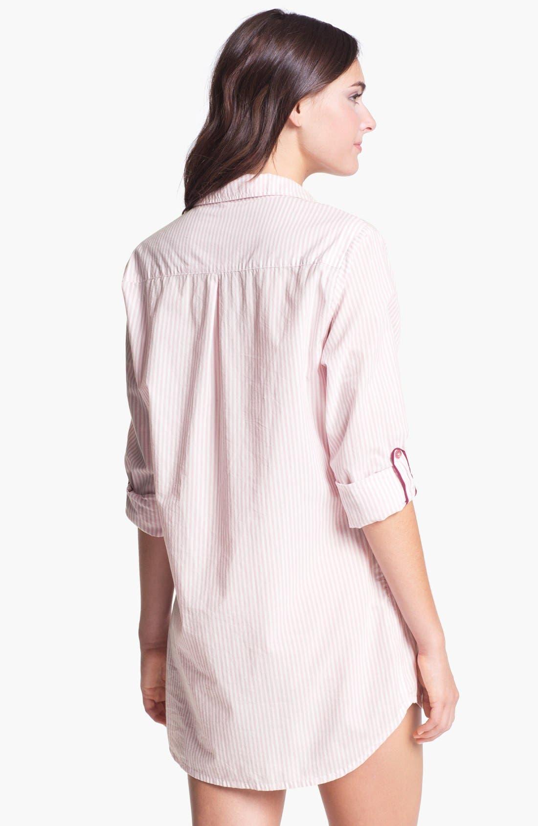 Alternate Image 2  - PJ Luxe Classic Nightshirt