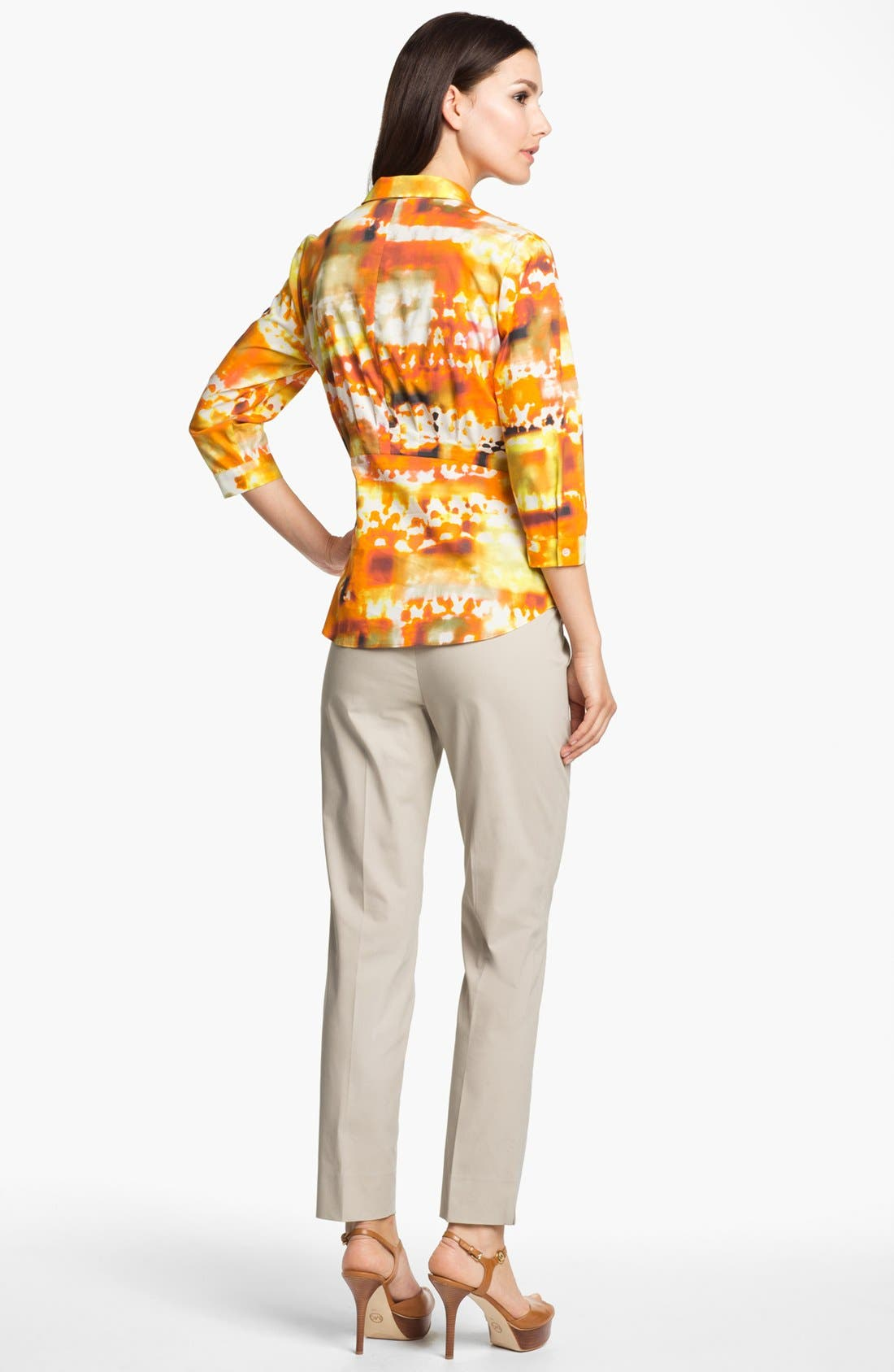 Alternate Image 5  - Lafayette 148 New York 'Sabrina - Expedition Stretch' Blouse