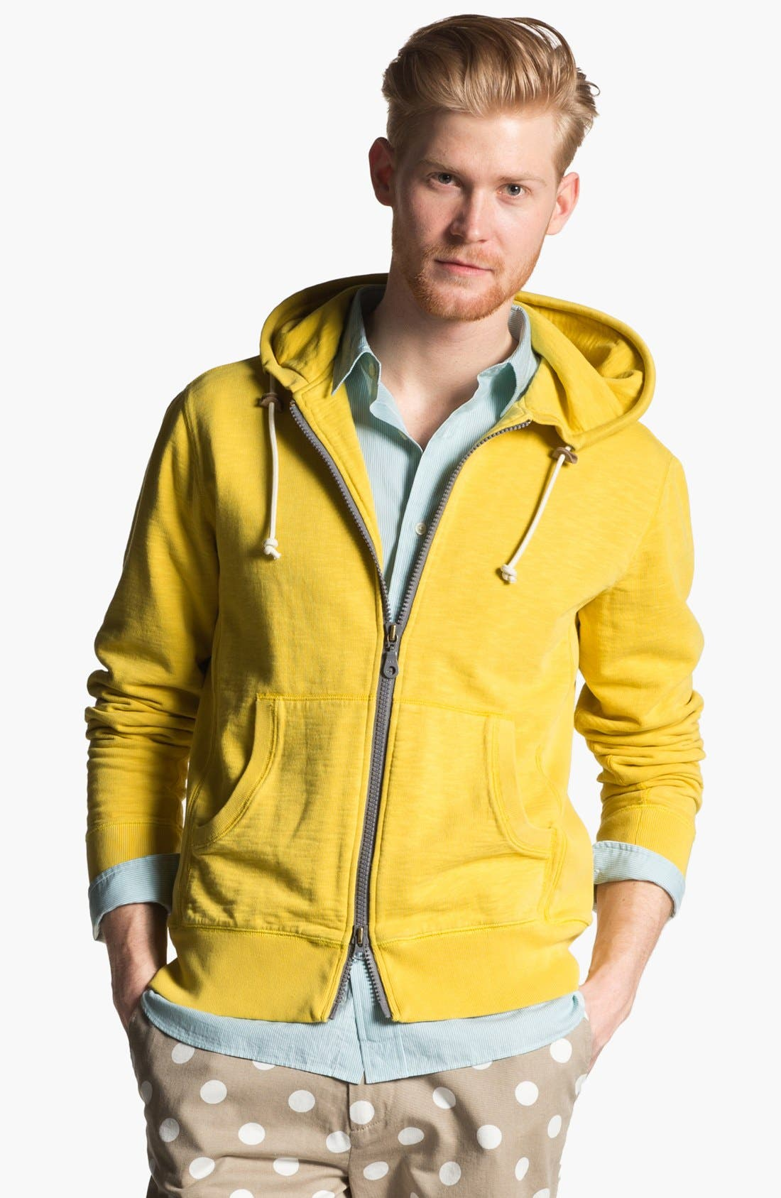 Alternate Image 1 Selected - Jack Spade 'Cliff' Zip Hoodie