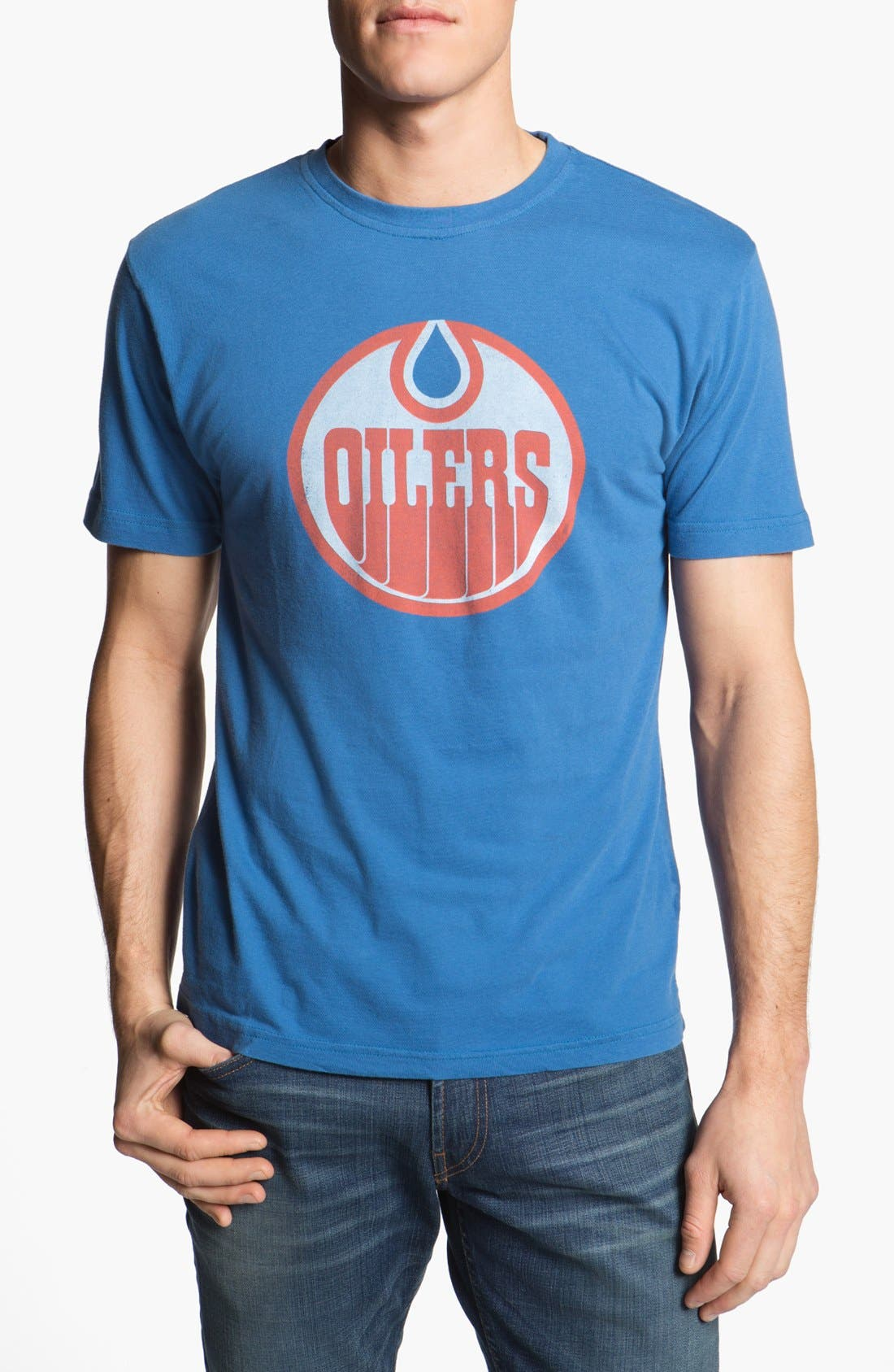 Alternate Image 1 Selected - Red Jacket 'Oilers - Brass Tacks' T-Shirt