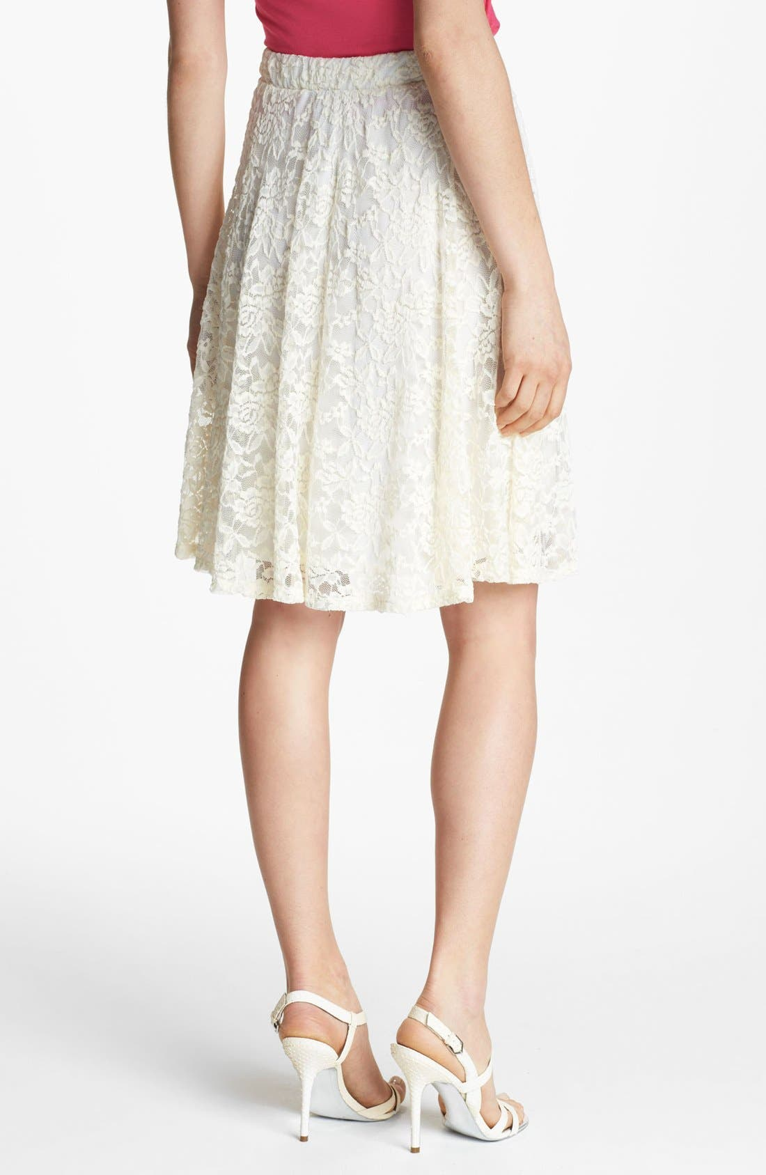 Alternate Image 2  - Bobeau High Waist Lace Skirt