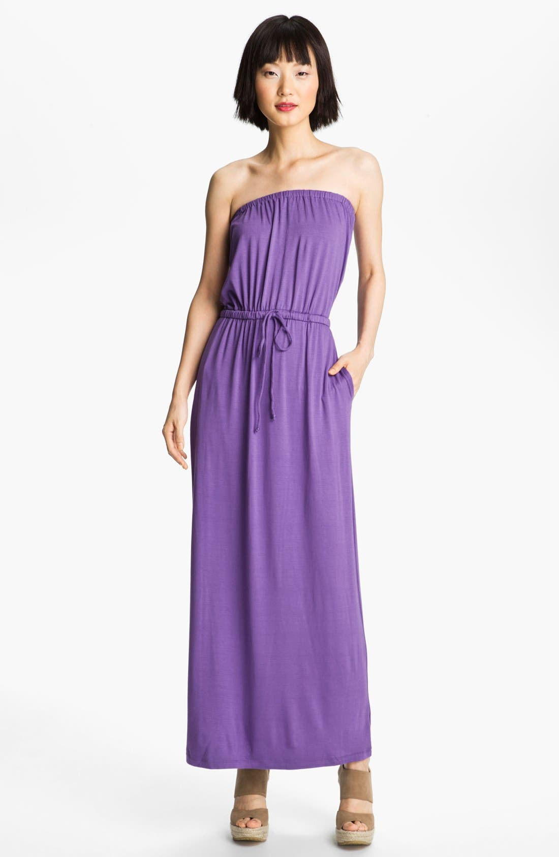 Alternate Image 1 Selected - Felicity & Coco Strapless Jersey Maxi Dress (Nordstrom Exclusive)