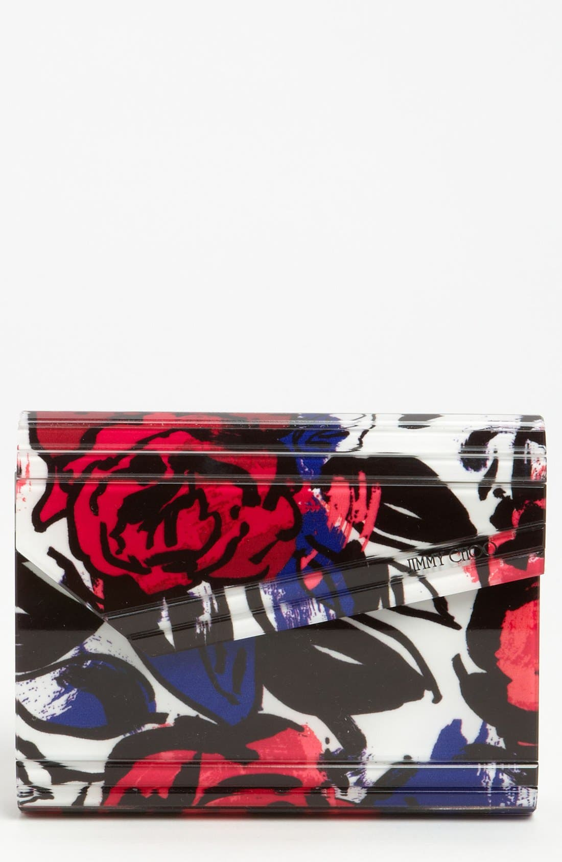 Main Image - Jimmy Choo 'Candy' Floral Clutch