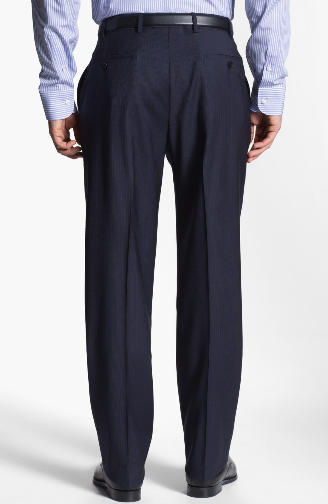 Alternate Image 5  - Armani Collezioni 'Giorgio' Chalk Stripe Wool Suit