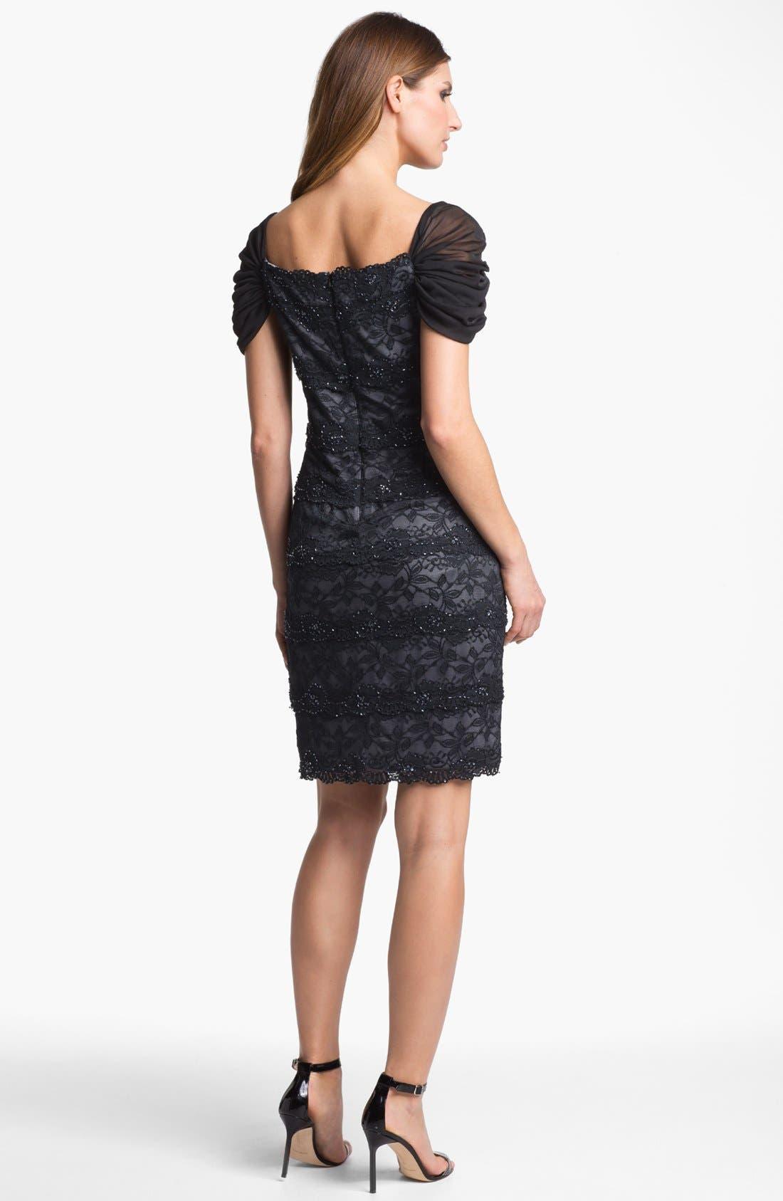 Alternate Image 2  - Patra Embellished Lace Sheath Dress