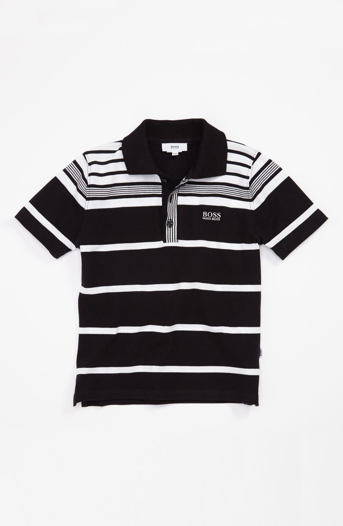 Main Image - BOSS Kidswear Stripe Polo (Little Boys & Big Boys)
