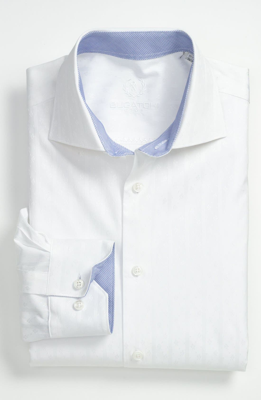 Alternate Image 1 Selected - Bugatchi Trim Fit Dress Shirt