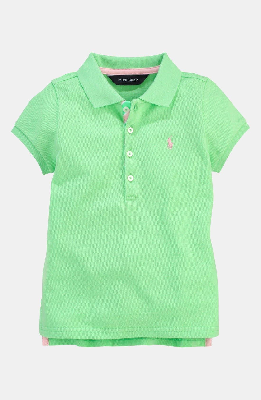 Alternate Image 1 Selected - Ralph Lauren Polo Shirt (Toddler)