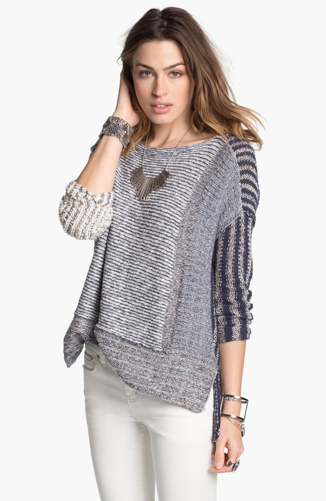 Alternate Image 1 Selected - Free People 'I'm Cool with Stripes' Sweater
