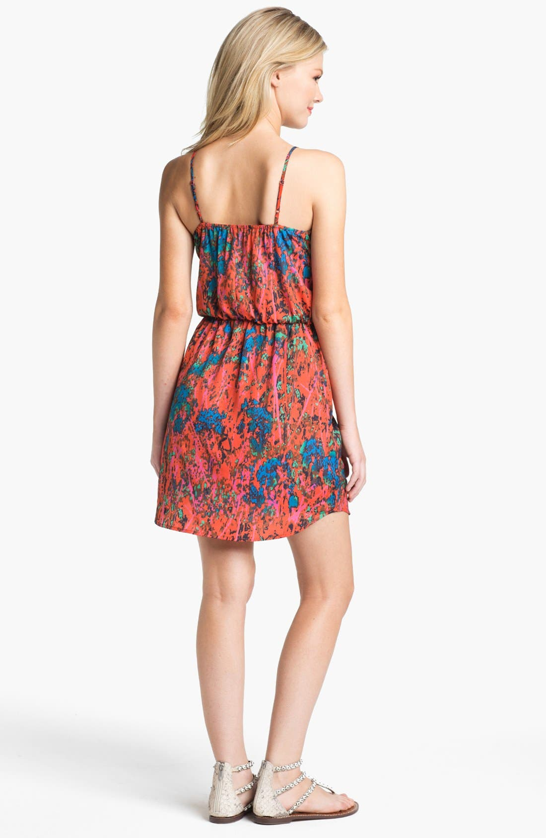 Alternate Image 2  - Collective Concepts Print Gathered Slip Dress