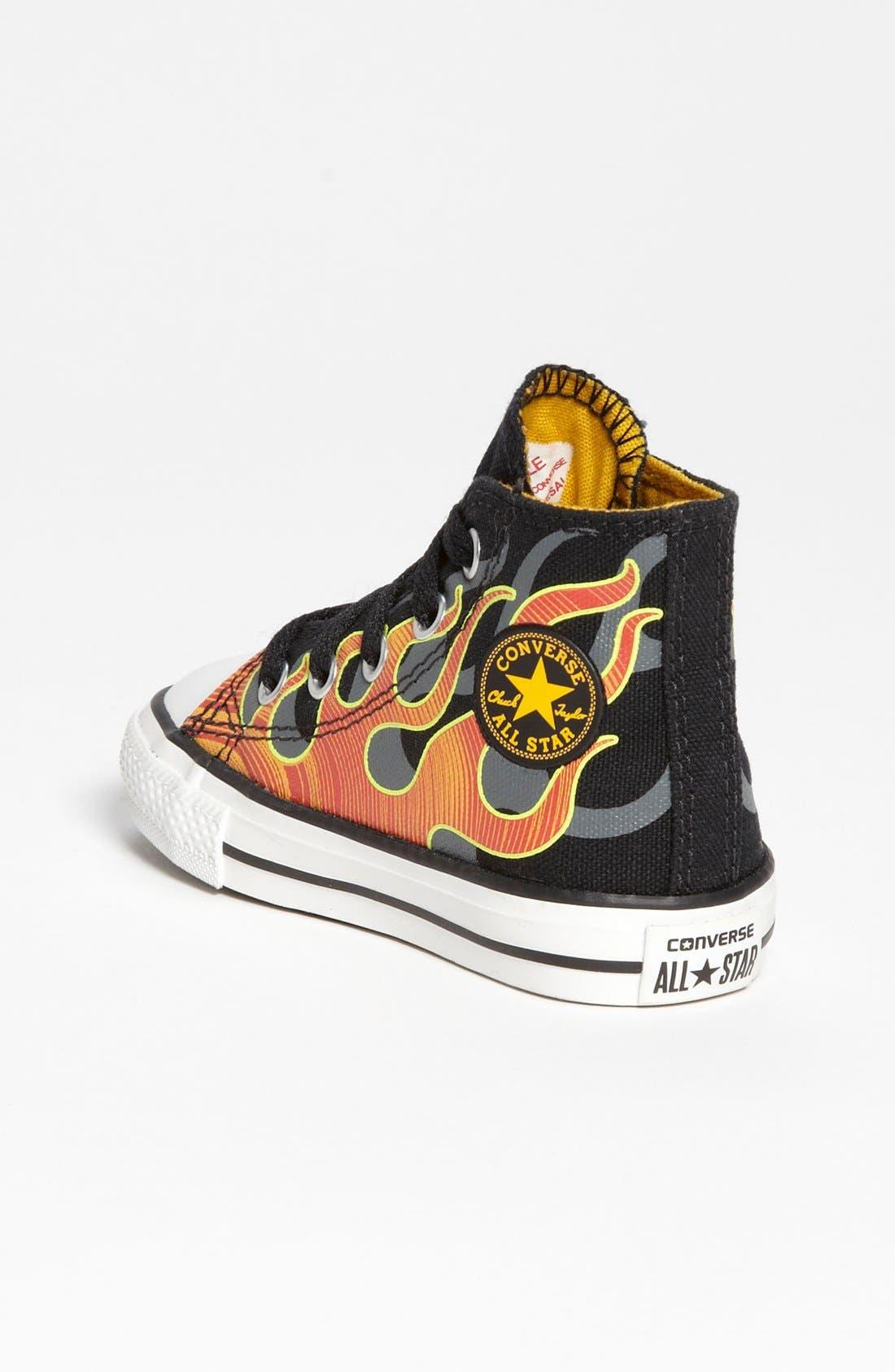 Alternate Image 2  - Chuck Taylor® All Star® 'Flames' High Top Sneaker (Walker & Toddler)