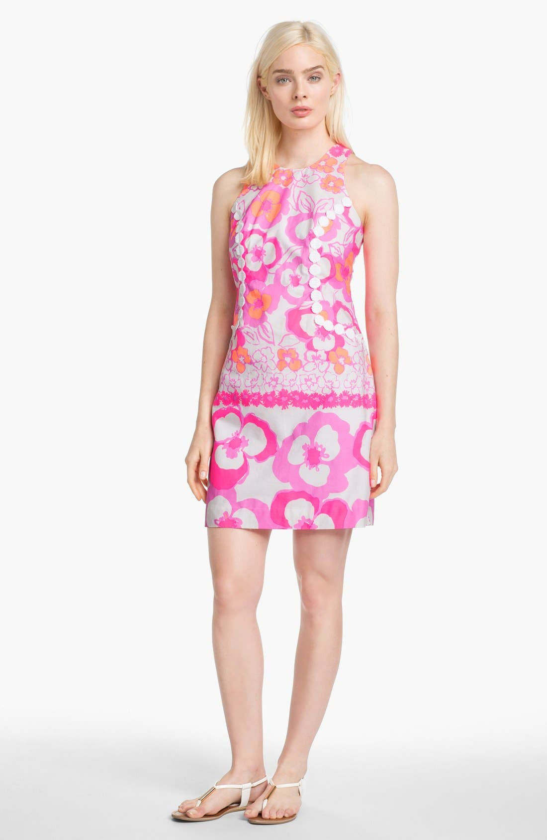 Alternate Image 1 Selected - Lilly Pulitzer® 'Pearl' Floral Poplin Shift Dress