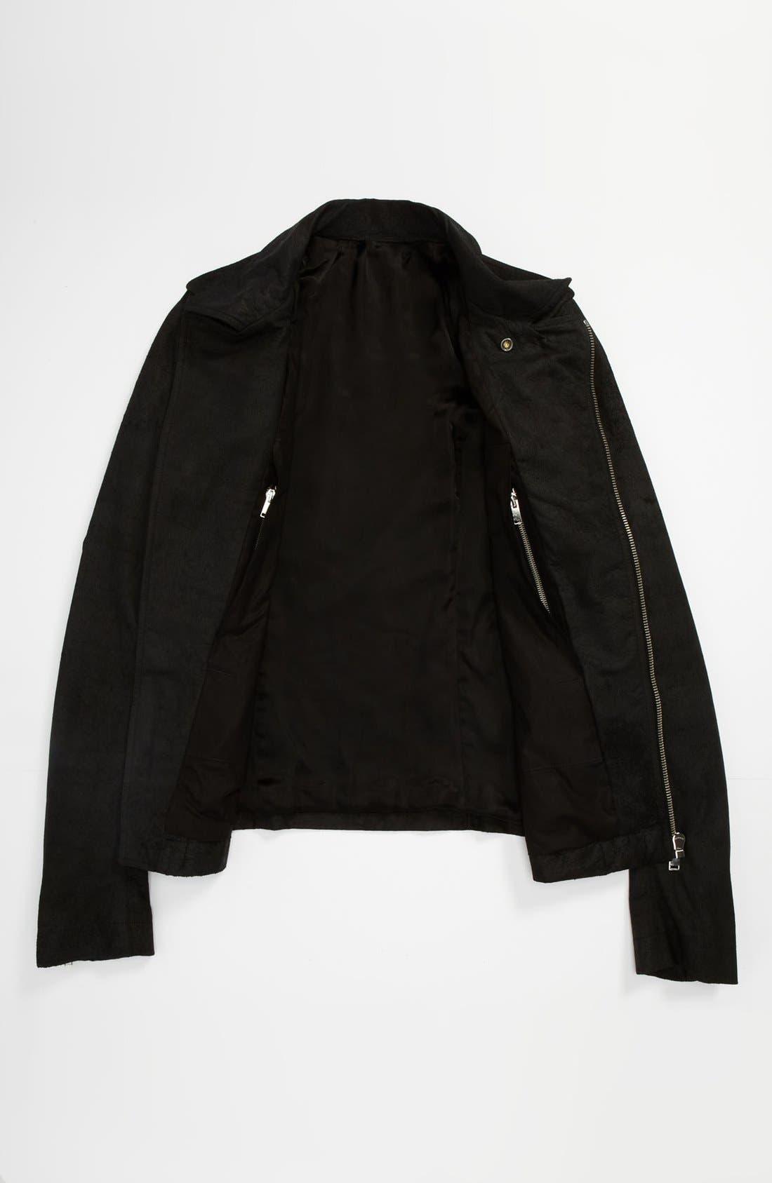 Alternate Image 3  - Rick Owens Lambskin Leather Biker Jacket