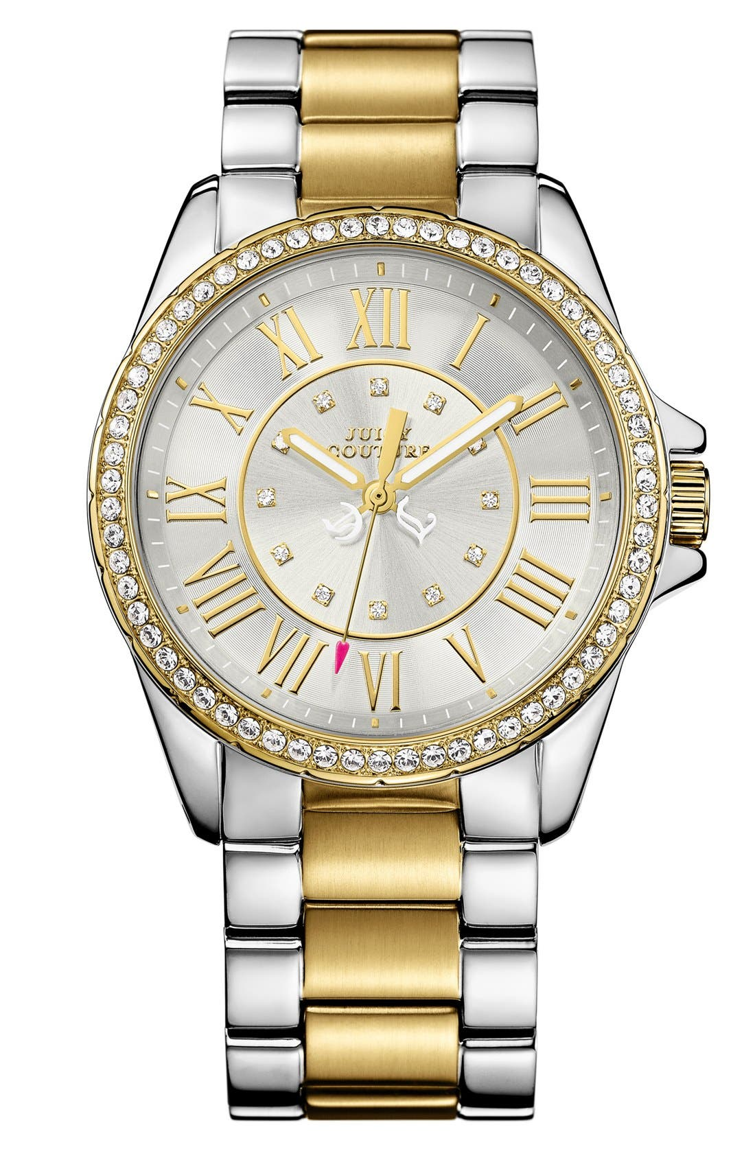 Main Image - Juicy Couture 'Stella' Roman Numeral Watch, 40mm