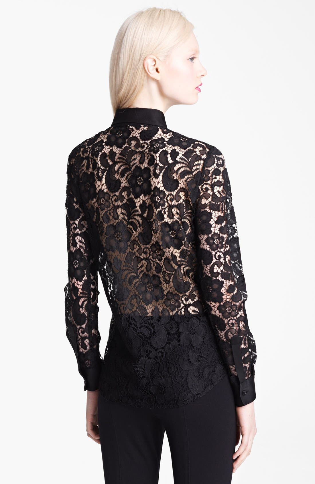 Alternate Image 2  - Moschino Cheap & Chic Lace Blouse