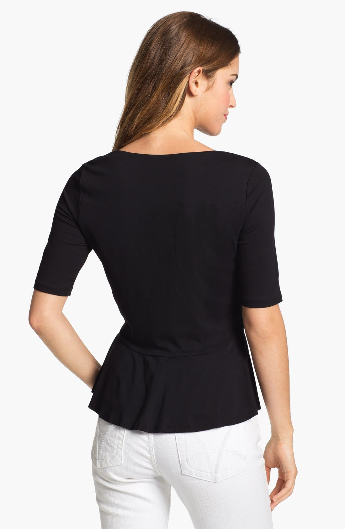 Alternate Image 2  - Vince Camuto Three Quarter Sleeve Peplum Top