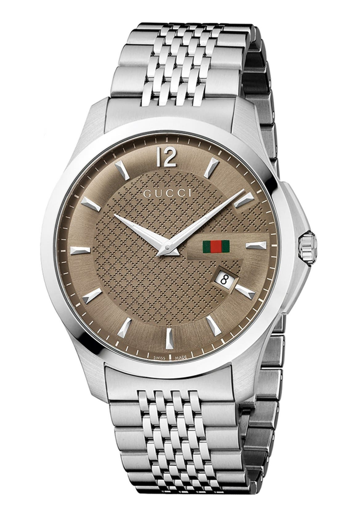 Alternate Image 1 Selected - Gucci 'G-Timeless' Bracelet Watch, 40mm