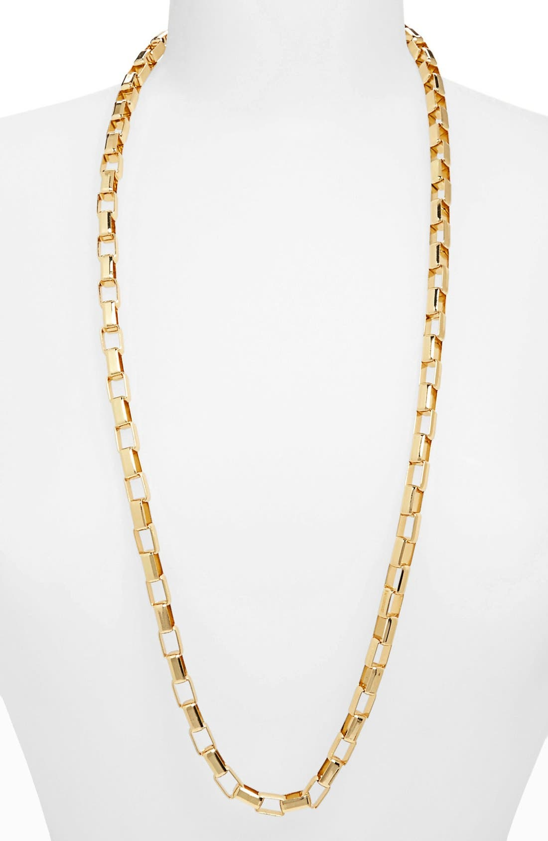 Main Image - Topshop 'Flat Rectangle' Chain Necklace