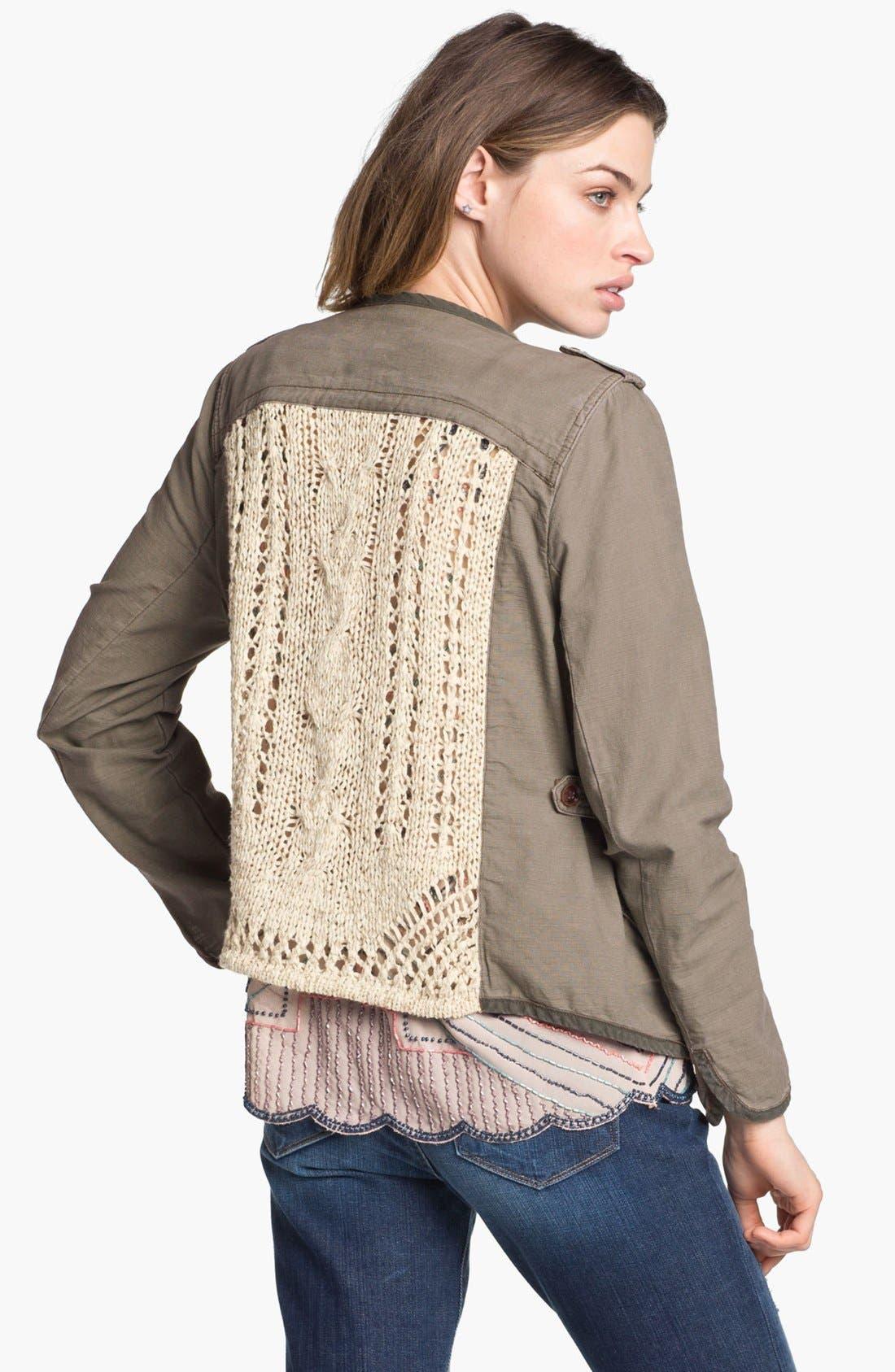 Alternate Image 2  - Gibson Crochet Back Surplus Jacket