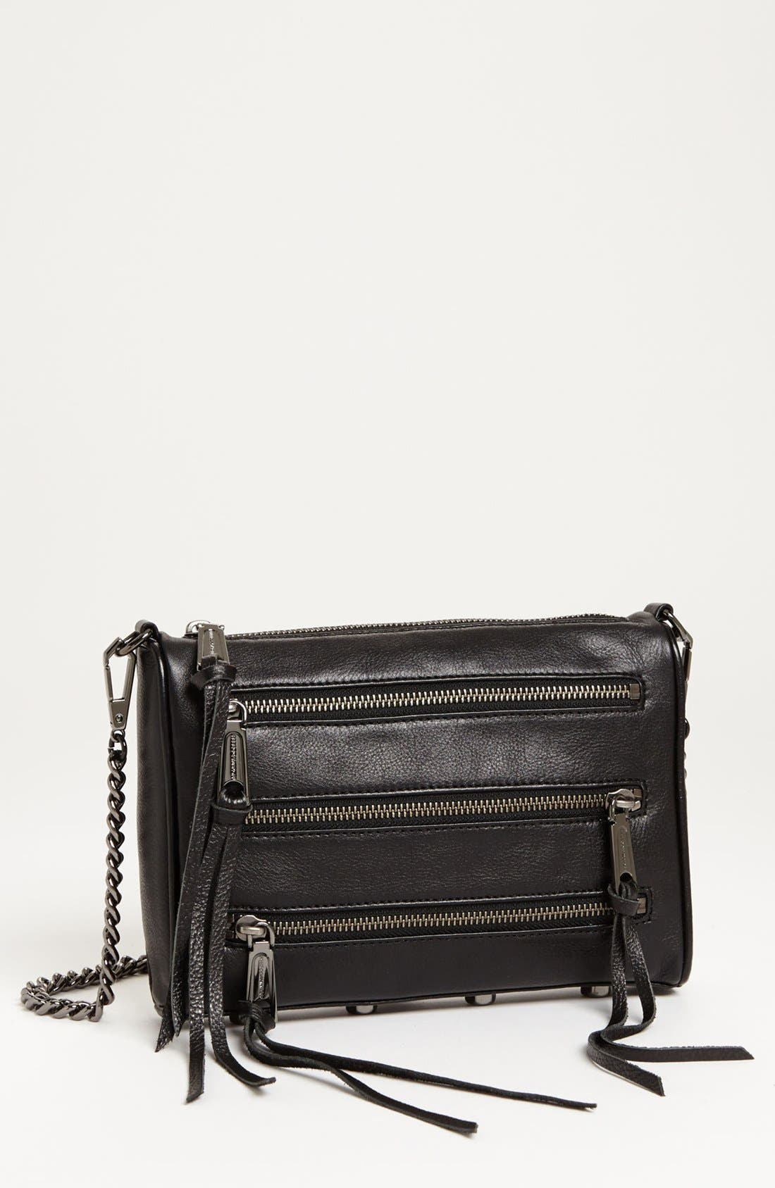 Alternate Image 1 Selected - Rebecca Minkoff '5 Zip - Mini' Crossbody Bag